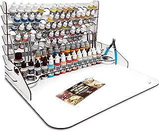 Grande Paint Station. Table de travail, organisateur et support pour peintures Vallejo (50 x 37 cm + extension).