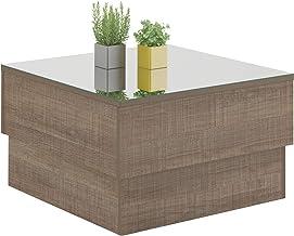 Artely MDF, MDP and Mirror Parati Coffee Table - cinnamon brown, w 60 cm x d 60 cm x h 35 cm