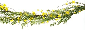 """CWI Gifts Measures 48"""" Artificial Forsythia Garland, Multicolored"""