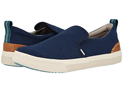 TOMS TRVL LITE Slip-On (Navy Heritage Canvas) Men