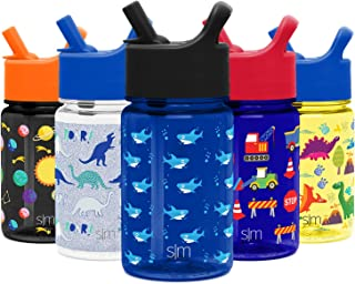 Simple Modern 12 Ounce Summit Kids Tritan Water Bottle with Straw Lid Sippy Cup - Dishwasher Safe Tumbler Travel Mug -