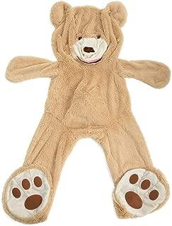 HollyHOME Teddy Bear Cover DIY Gift Huge Plush Bear Life Size Giant Bear Animal Toy 63 Inches Tan