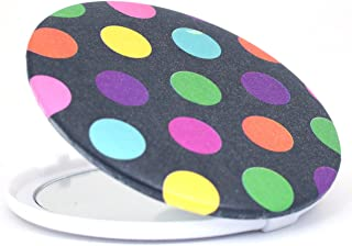 Color Fever Dual Magnifying Compact Mirror, Black