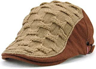 Men Women Woven Knitted Wool Ivy Winter Warm Vintage Beret British Gentleman Boina Duckbill