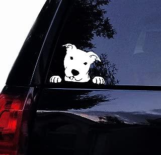 Tshirt Rocket Pitbull Decal - Peeking Peek a Boo Pit Face - Pit Bull Dog Car Decal, Laptop Decal, Car Window Sticker (8