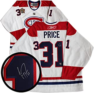 c6b5009b2 Carey Price Signed Jersey - Frameworth White Replica 2011 Heritage Classic  - Autographed NHL Jerseys