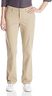 Dickies Women's Slim Fit Boot Cut Leg Twill Pant (Long Inseams), Desert Sand, 16