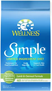 Wellness Simple Natural Limited Ingredient Dry Dog Food, Lamb and Oatmeal Recipe, 26-Pound Bag