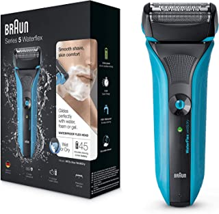Braun Waterflex WF2s Men's Electric Foil Shaver Wet and Dry Rechargeable and Cordless Razor - Blue