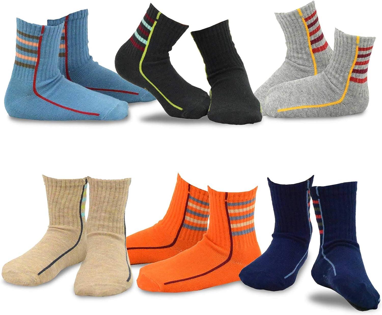 TeeHee Little Boys Cotton Fashion Fun Socks 6 12 Pack Max 59% OFF Under blast sales Pair Crew