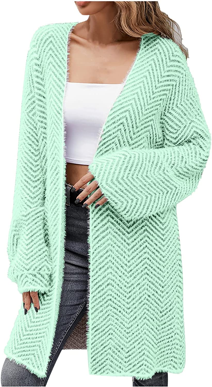 Trendy Girl Casual Long Sleeve Long Cardigan Coat Sweater Outerwear Tops