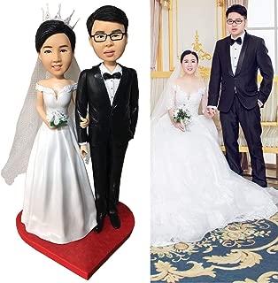 WILNARA Polymer Clay Handmade Custom Dolls Mini Figure,Romantic Gift for Lover/Friends/familly … (Couple)