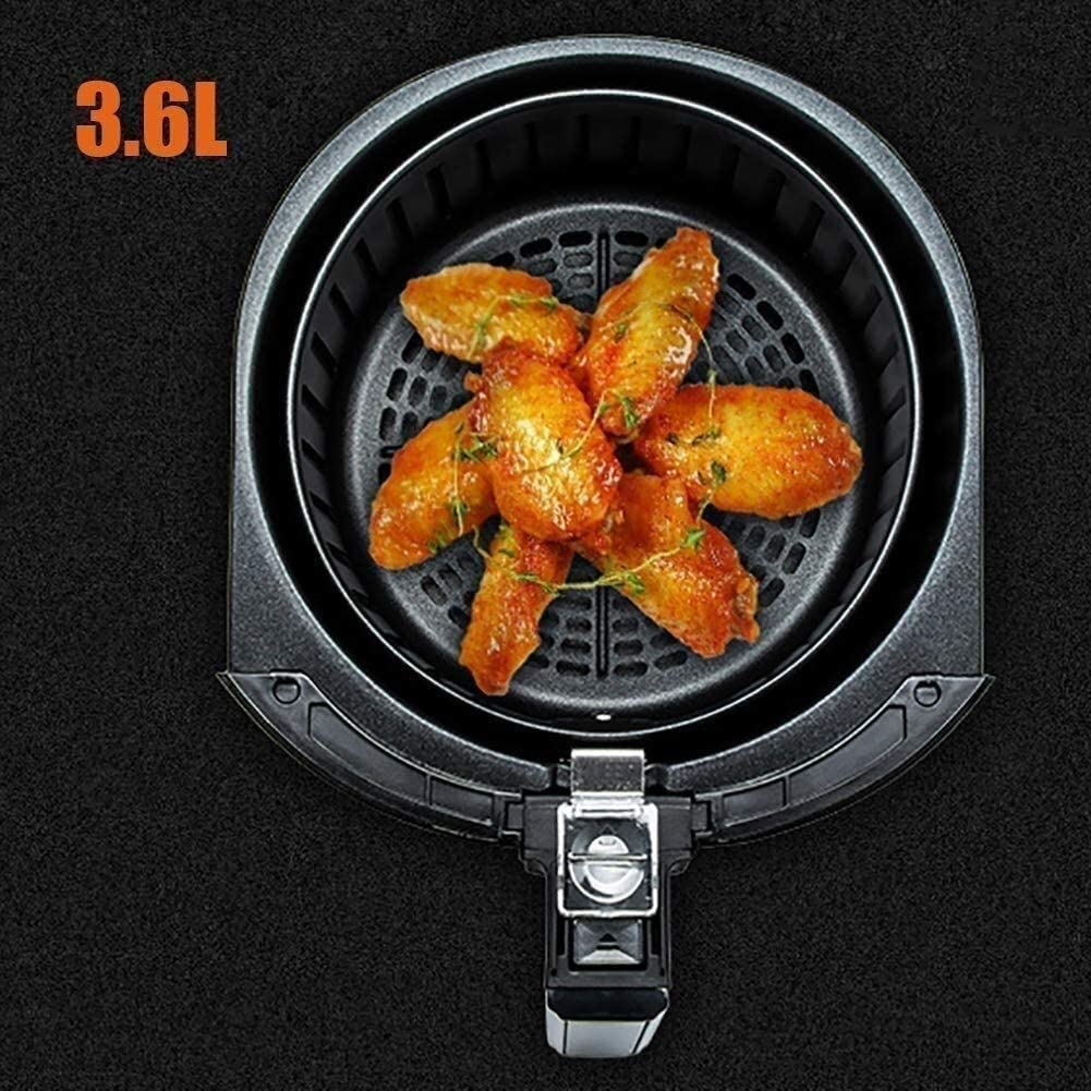 Air Fryer 3.6L Touch LCD Oilless Cooker, 1300W Household Air Fryer, multifunctionele Air Fryer 80 ° C constante temperatuur Fe GDSZMMLS (Color : A (Pack of 2)) A