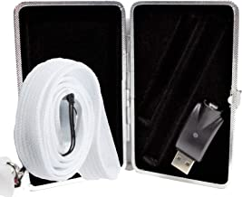 510 Thread Battery Discreet Black Case with WHITE Lanyard for both Pod/Pen PLUS USB Charger