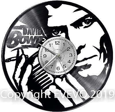 WoD David Bowie - Reloj de Pared de Vinilo, Estilo Retro ...