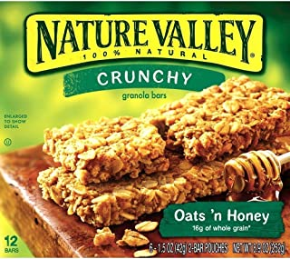 Nature Valley, Crunchy Granola Bars, Oats N Honey, Six 1.5 Ounce 2-bar Pouches Per Box (2 Pack)