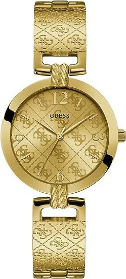 Guess Reloj Analógico para Mujer de Cuarzo con Correa en Acero Inoxidable W1228L2