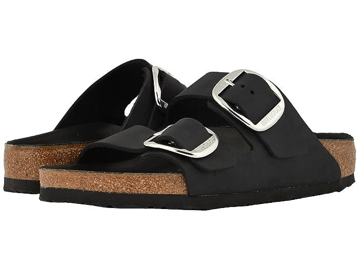 Birkenstock  Arizona Big Buckle (Black Oiled Leather) Womens  Shoes