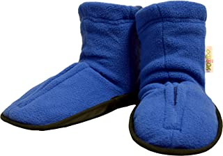 Yogibo Spa Style Aroma Slippers/Booties - Hot & Cold Lavender & Peppermint Aromatherapy - Soothes Aches & Pains - Microwave & Freezer Safe - Easy Slip on - Machine Washable Cover -