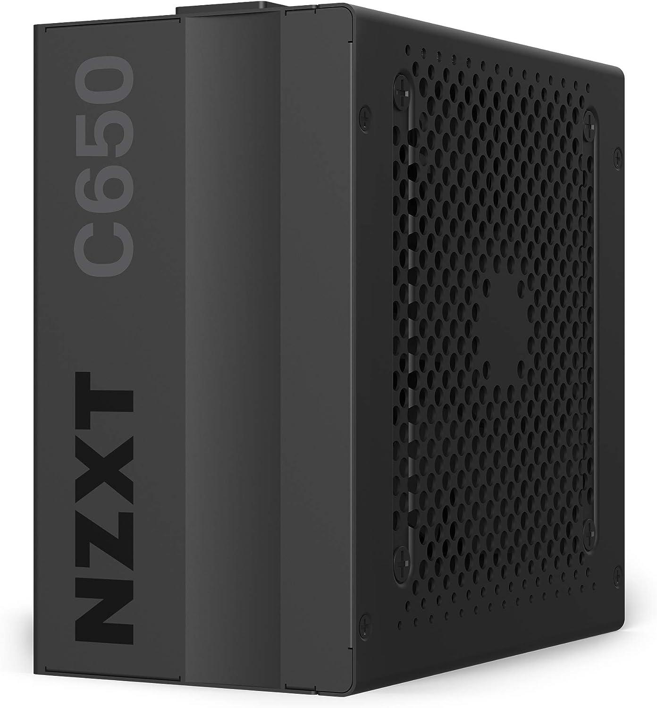 NZXT C650 - NP-C650M-EU - Fuente de alimentación de 650 vatios - Certificado 80+ Gold - Rodamientos dinámicos fluidos - Diseño modular - Cables con manguito - Fuente de alimentación ATX Gaming