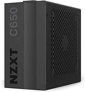 NZXT C650 - NP-C650M - 650 وات PSU - 80+ ذهبي معتمد - تحكم مروحة صامتة هجينة - محامل ديناميكية سائلة - تصميم وحدات - كابلا...