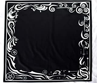 Tarot Cloth for Any Tarot Cards: Wind, Fire, Earth, Water (Large 24 inches x 24 inches, Black, Velvet)
