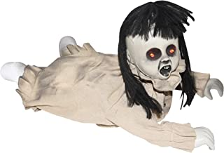 Halloween Animated Crawling Possessed Baby Doll, 19 1/2 Inch