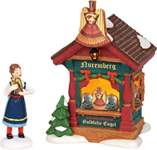 Department 56 Alpine Village Christmas Market Booth Foil Angels Lit Building and Accessory, 5.51