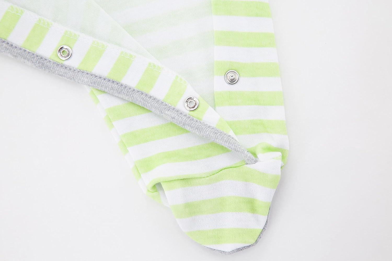 Achma Baby Boys Baby Girls Organic Cotton Side Snap Sleep n Play Footie