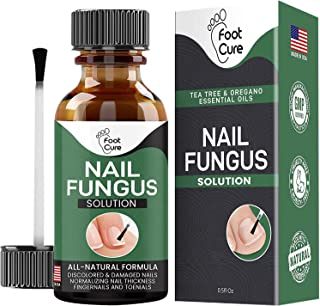 FOOT CURE Extra Strong Organic & USA Made Finger & Toenail Fungus Treatment