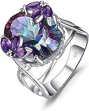 JewelryPalace Anillo Declaración Con Piedra Preciosa Cuarzo Turmalina Amatista Plata de ley 925