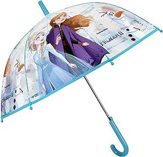 Paraguas Frozen 2 Niña con Cúpula Burbuja Transparente - Paraguas Niñas 4 5 6 Años Princesa Elsa Anna y Olaf - Paraguas In...
