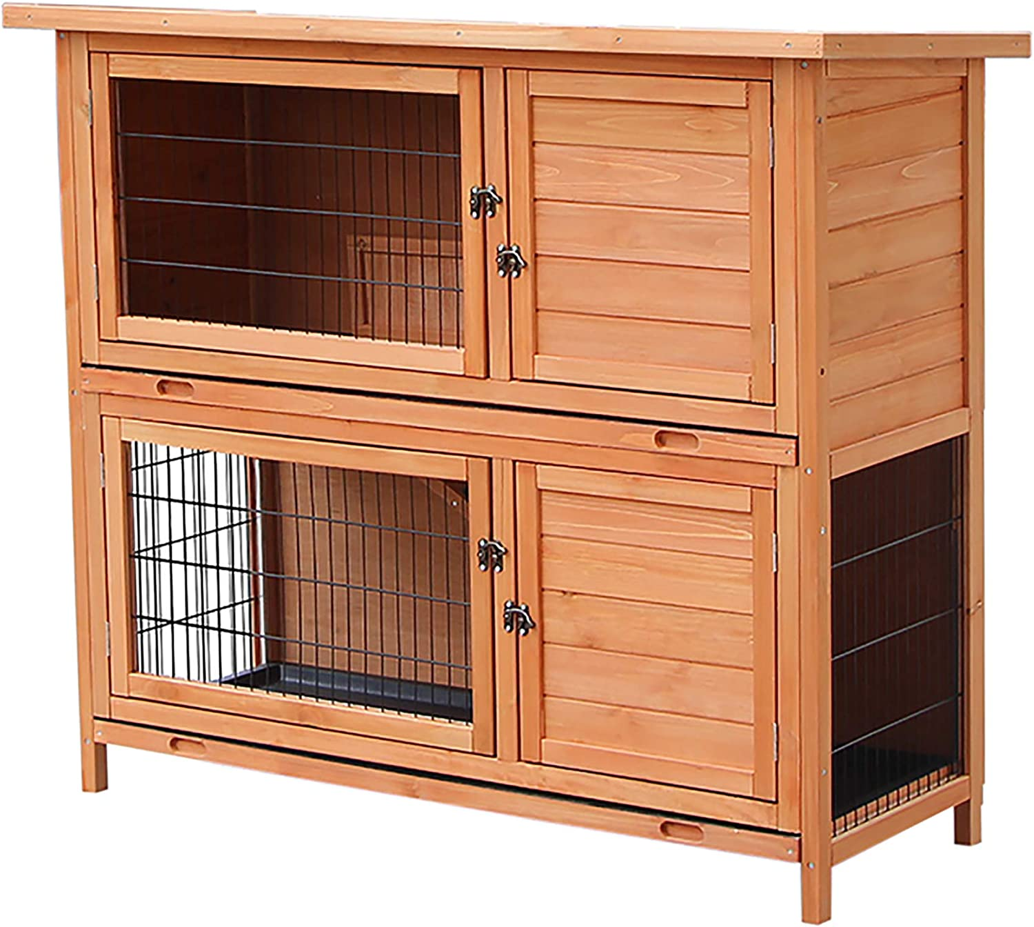 MERITLINE Rabbit Hutch Indoor and Outdoor P Max 81% OFF Bunny Cage with Wood gift