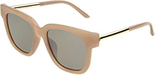 Foster Grant Women's 33144fcu650 Rectangular Sunglasses, Pink/Brown Momo and Silver Flash, 45 mm