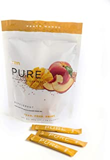 Rain Pure Digestive Health Probiotic Supplement Peach Mango Powder Drink Mix - 30 Packets