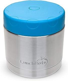 LunchBots Grand bol isotherme en acier inoxydable 470 ml – Récipient alimentaire isotherme pour garder au chaud pendant 6 ...