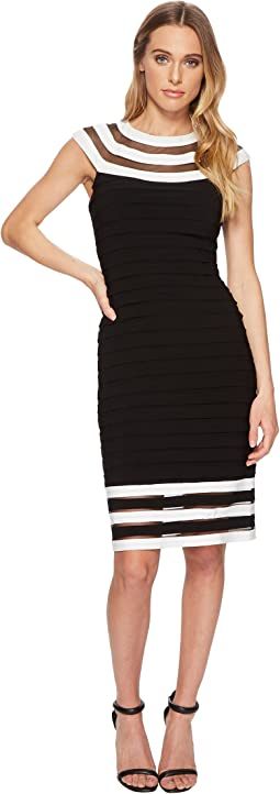 Adrianna Papell - Matte Jersey Color Block Sheath