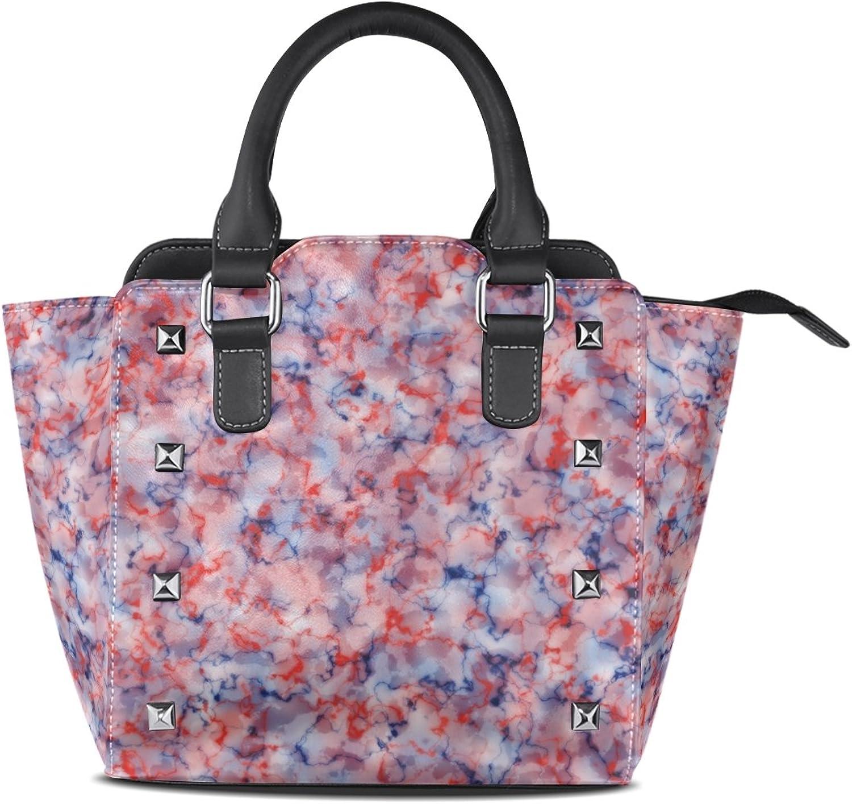 My Little Nest Women's Top Handle Satchel Handbag Abstract Marble Motif Background Ladies PU Leather Shoulder Bag Crossbody Bag