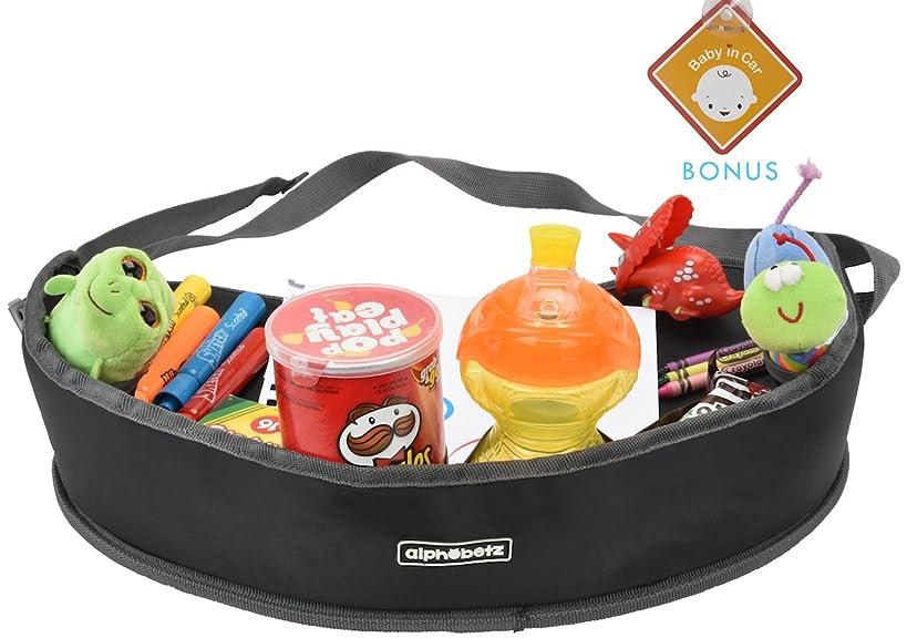 Alphabetz Car Seat Kids Activity Travel Tray, Black