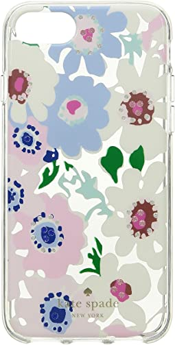 Jeweled Daisy Garden Clear Phone Case for iPhone 8