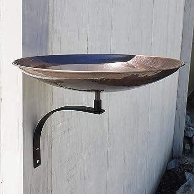 Achla Designs BCB-01-WM Wall Mount Bracket Birdbath, Burnt Copper, Black
