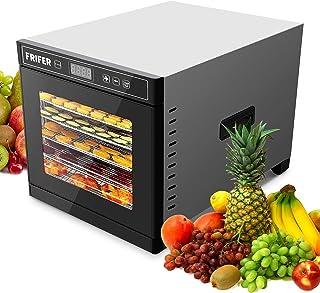 Frifer Deshydrateur Alimentaire, Déshydrateur 600W avec 6 Plateaux Inox, Food Dehydrator avec Minuterie et Température Rég...