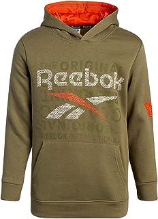 Reebok Boys' Sweatshirt - Fleece Pullover Fashion Hoodie Designs and Logos