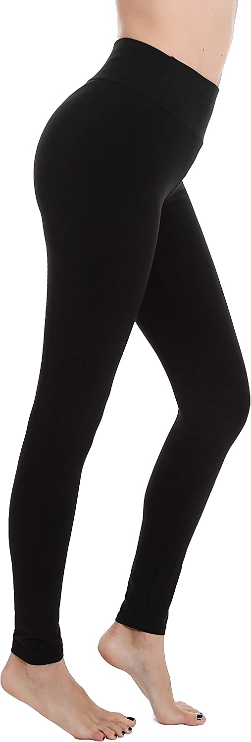 Finerease Women's Super Soft & Stretchy High Waisted Thick Casual Legging