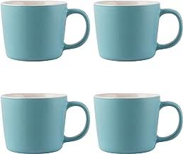 La Cafetière Barcelona Ceramic Espresso Cups, 100 ml - Retro Blue (Set of 4)