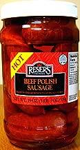 Reser's Hot Pickled Beef Polish Sausage Quart Jar