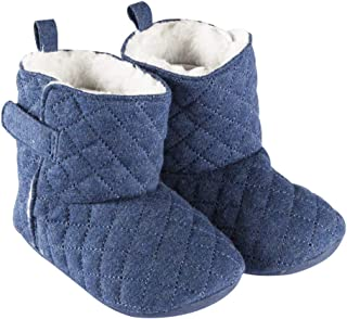 Playette Amelia Quilted Slipper Boots for 12-18 Months Baby, Navy,