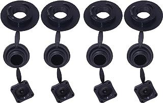 METER STAR 4 Pcs Spiral Cap Rib Screw Air Plug&Cap,Twist Lock with Inflatable Valve Replacement Air Valve Raft Air Valve f...