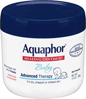 Aquaphor Baby Healing Ointment - Advance Therapy for Diaper Rash, Chapped Cheeks & Minor Scrapes - 14 oz Jar