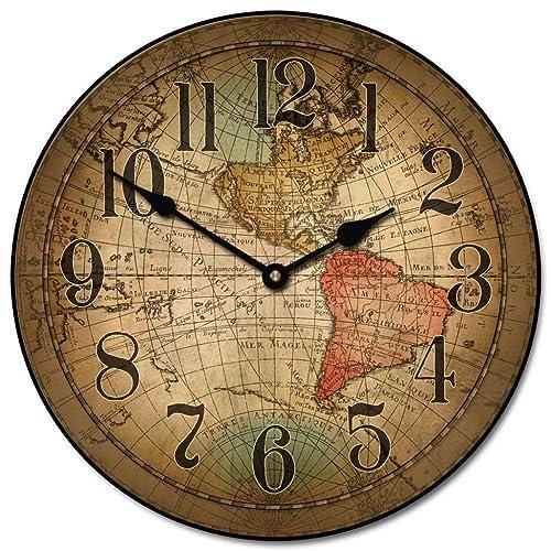 Time Zone Clocks: Amazon.com Ikea World Map Clock on louis vuitton world clock, at&t world clock, sony world clock, sharp world clock, apple world clock, google world clock,